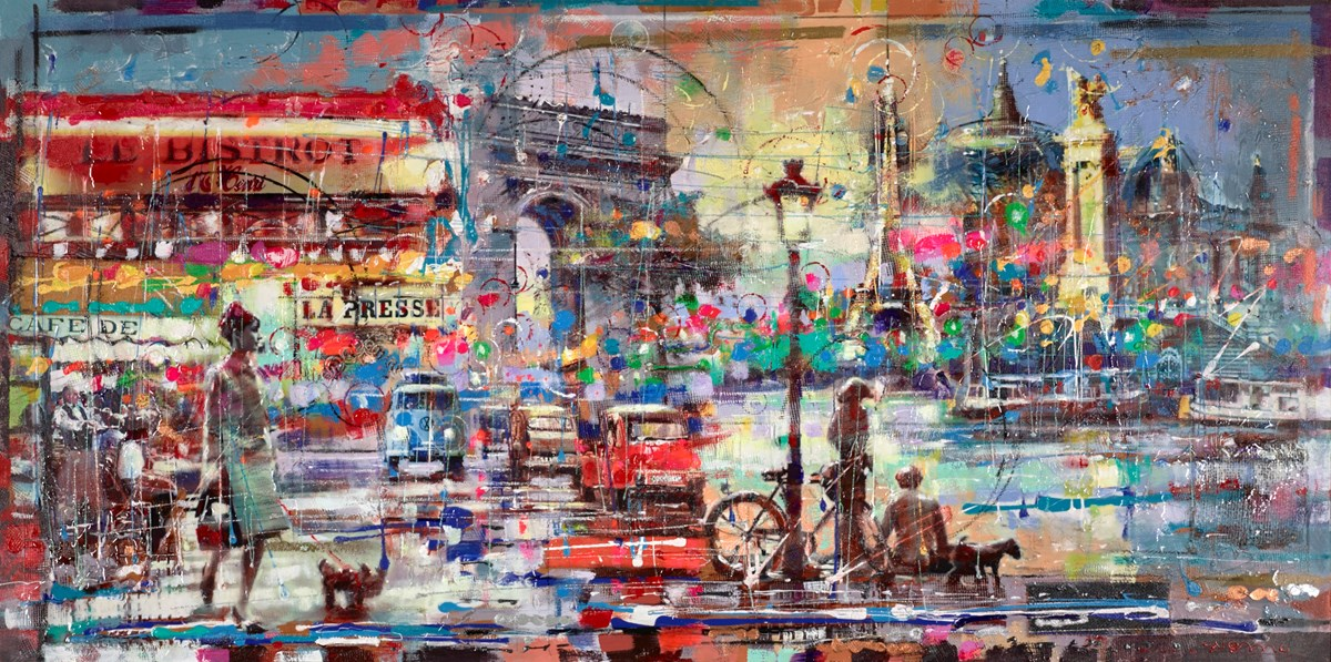 Le Bistro at Night by nemo -  sized 60x30 inches. Available from Whitewall Galleries